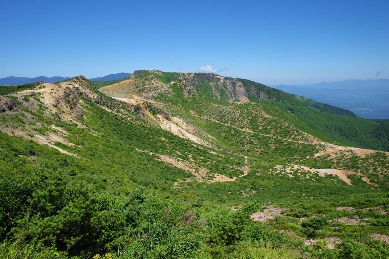 安達太良山 鉄山~峰の辻の展望