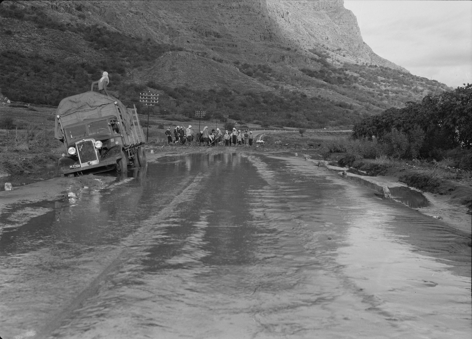 21. Затопленная дорога за пределами Тверии