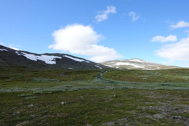 The top of Tjeuratjåkka