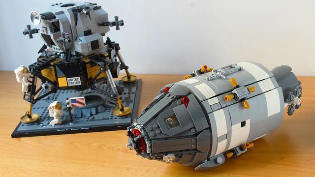 Lego Apollo 11 Command and Service Module, compatible with the 10266 Apollo 11 Lunar Lander set