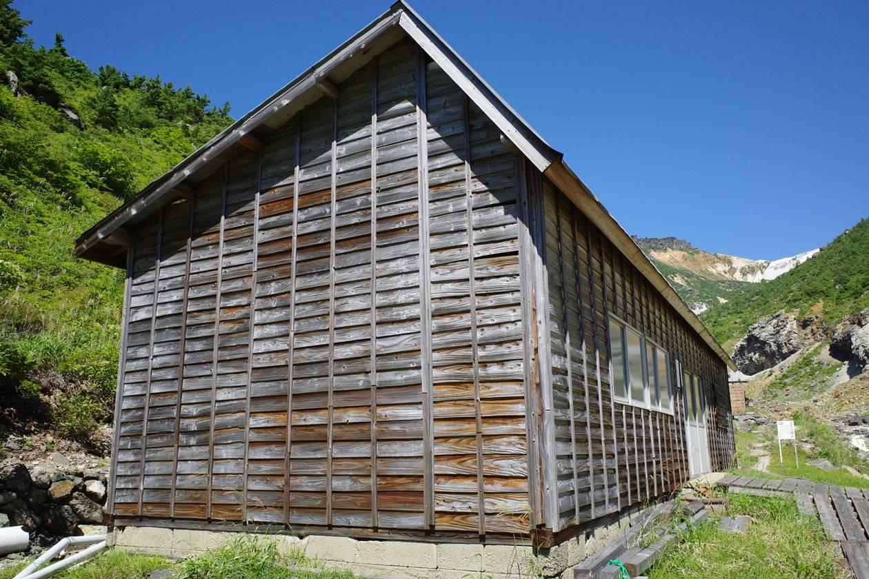 安達太良山 湯の花採取場の小屋