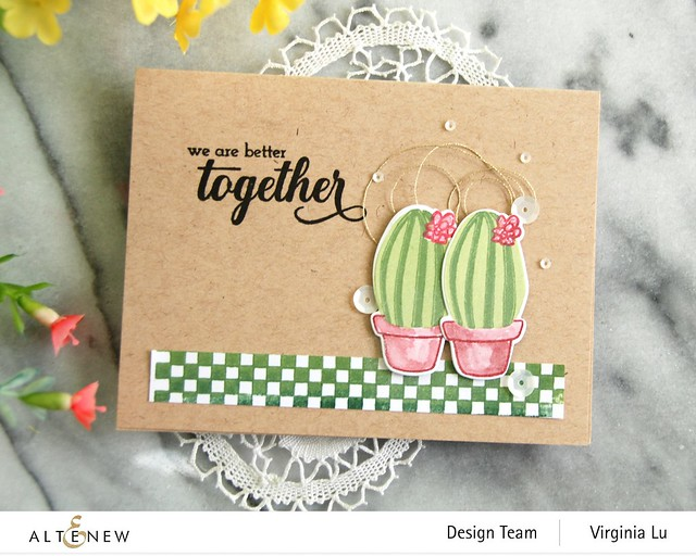 Altenew-MD Cactus-Checkerboard Stamp-We Stand With You Stamp Set-001