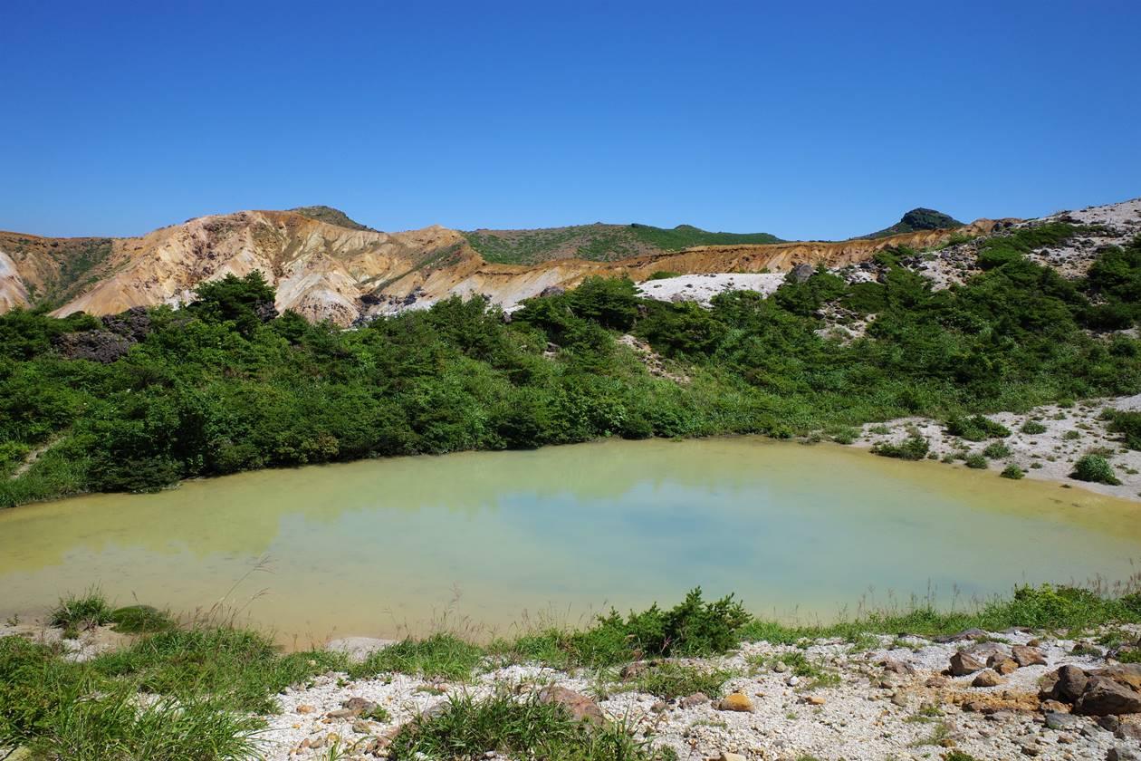 安達太良山 沼尻ルートにある名もなき池