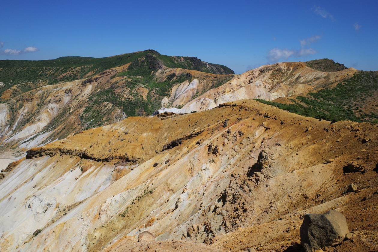 安達太良山の火山風景