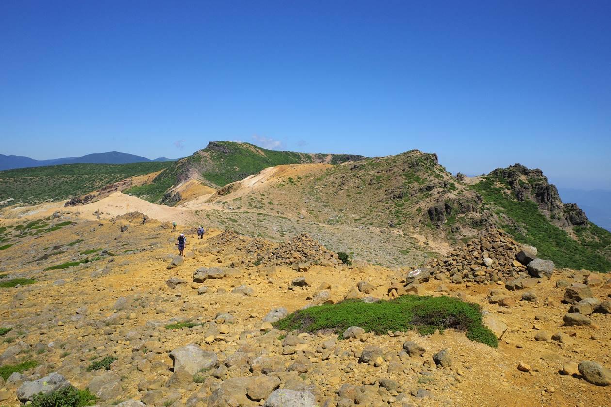 安達太良山 火山の稜線