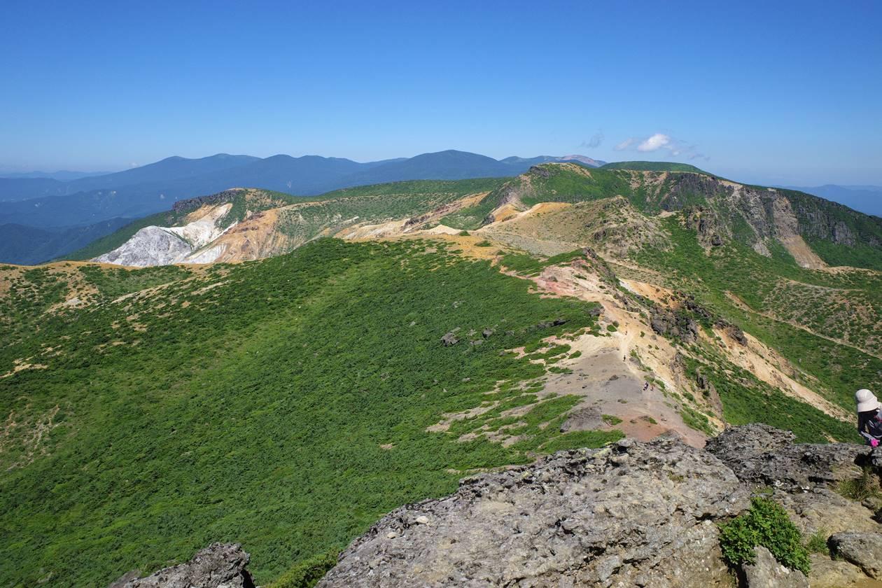 安達太良山山頂からの展望