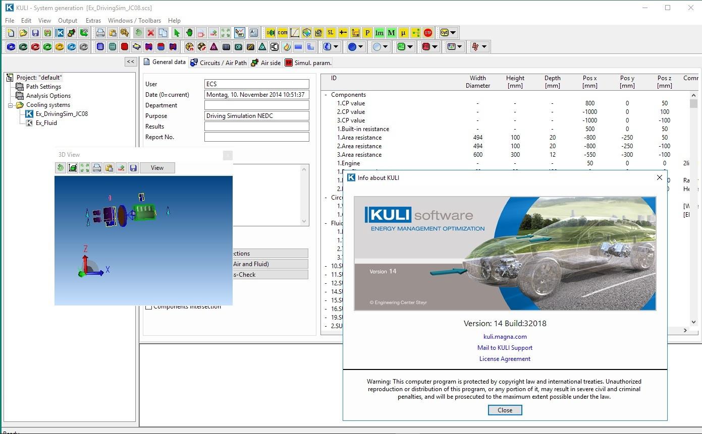 Working with MAGNA ECS KULI 14.0 full license
