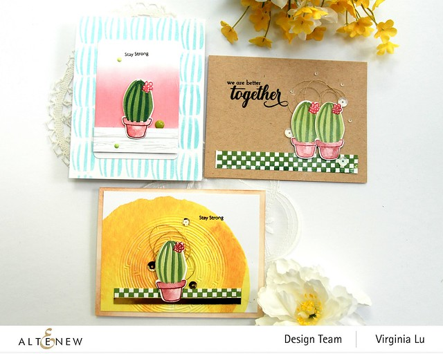 08292020-Mini Delight Cactus-CheckerBoard-We StandWith You Stamp Set-RoundMaze Die