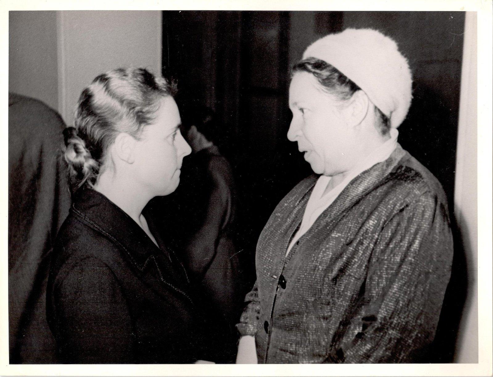 1950-е. Л.К. Балясная и А.Л. Барто