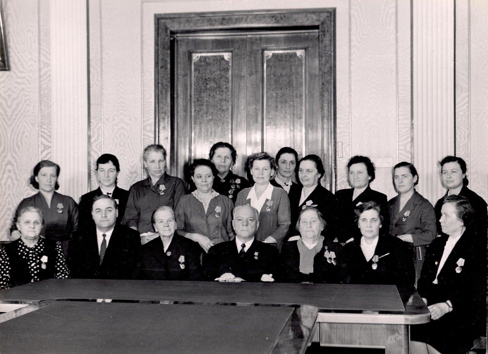 1960. Председатель Президиума Верховного Совета СССР К.Е. Ворошилов