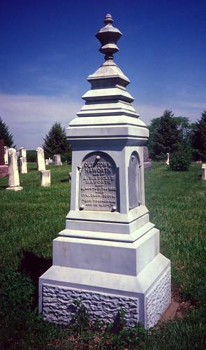 Cast Iron Grave Marker, Ackworth, Iowa