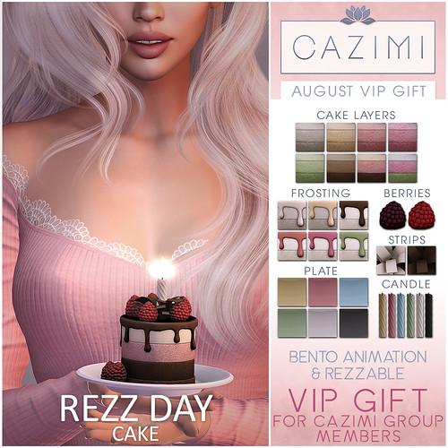 August VIP Gift: Rezz Day Cake