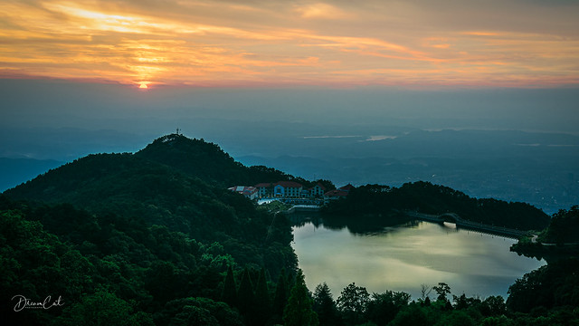 Sunset at Mount Lushan