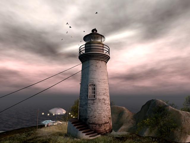 Distant Edge  - Hideiki Lighthouse On A Cliff