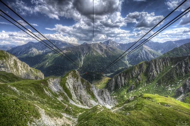 Way to Samnaun - Graubünden - Switzerland