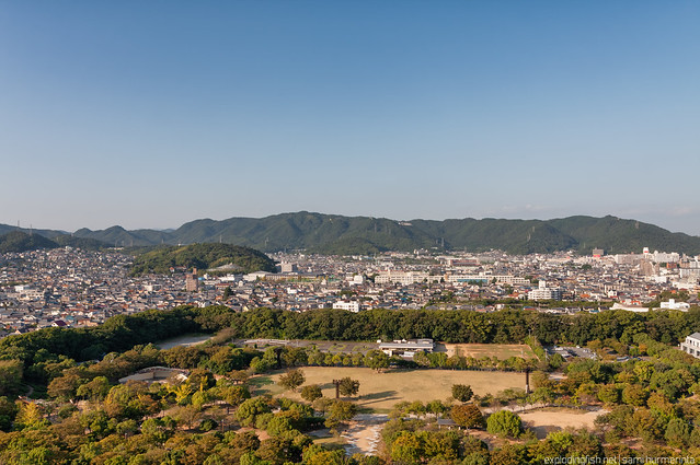A view north from Himeji Castle