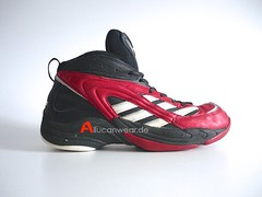1998 VINTAGE ADIDAS TORSION ADIPRENE BASKETBALL SPORT SHOES / HI TOPS