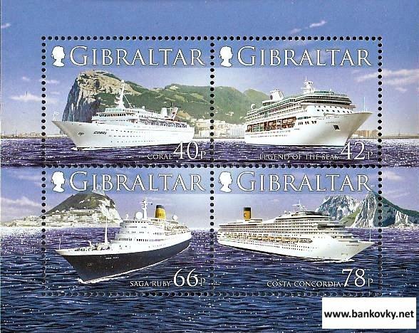 *Známky Gibraltar 2006 Lode nerazítk. hárček MNH