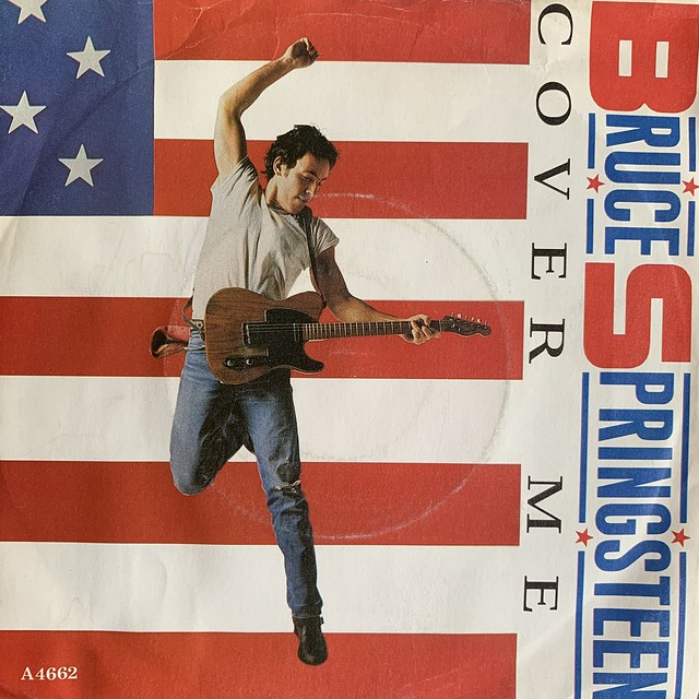 """Bruce Springsteen - Cover Me / Jersey Girl - 7"""" 45rpm Vinyl Record"""
