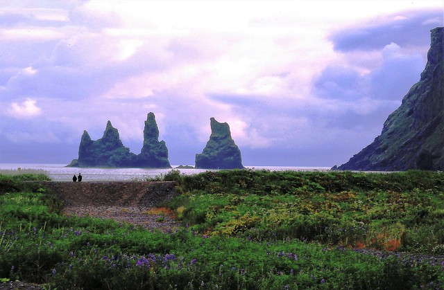 Black Beach - Iceland - Midnight Sun