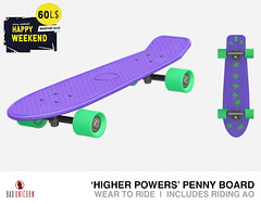 NEW! Higher Powers Penny Board - ONLY 60L *LIMITED TIME ONLY*