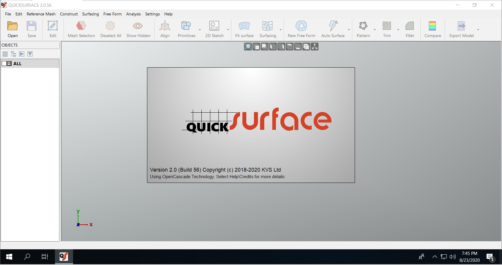Working with QUICKSURFACE 2.0.56 (2056) full license