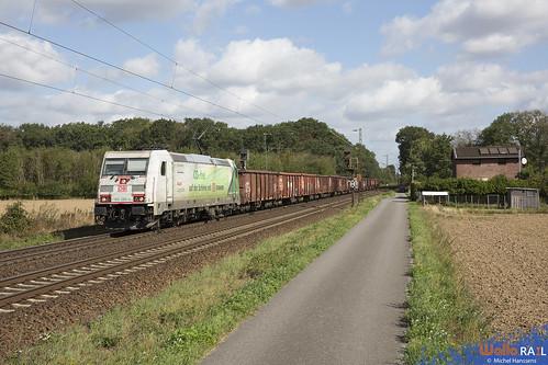 185 389 . DB Cargo . 68600 . Ossum-Bösinghoven (Meerbusch). 22.08.20.