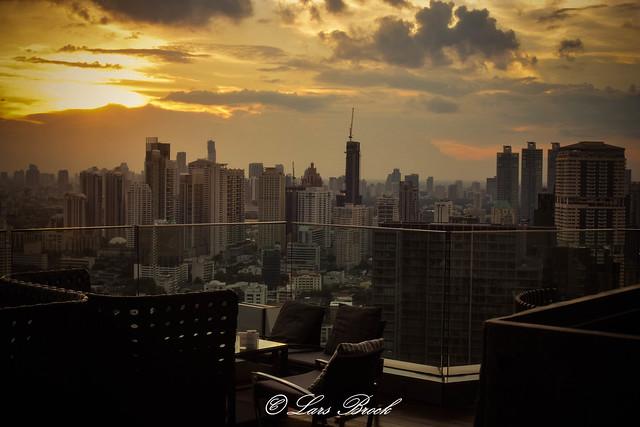 View from The Octave roof bar at Marriott Sukhumvit, Bangkok Thailand
