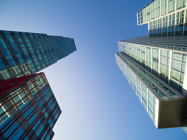 High-rise buildings Almere