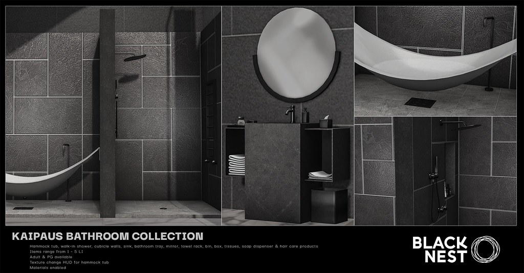 BLACK NEST / Kaipaus Bathroom Collection / Uber