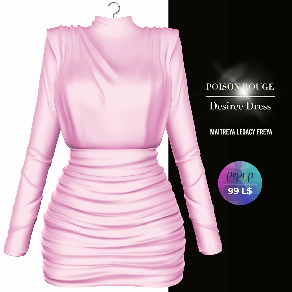 POISON ROUGE Desiree Dress Pink POP-UP AD