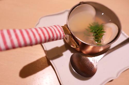蛤の酒蒸し小鍋仕立て