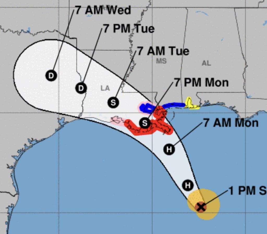 Hurricane Marco Forecast Track