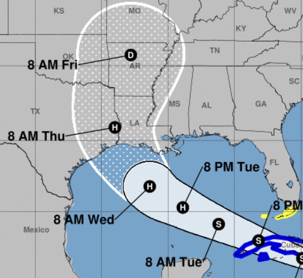 Hurricane Laura Forecast Track