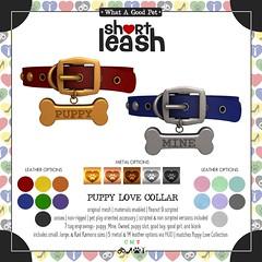.:Short Leash:. Puppy Love Collar