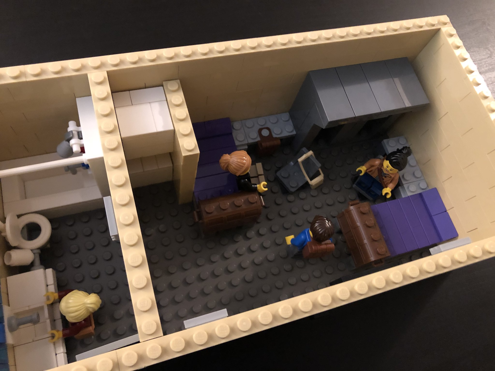 Dorm Room top facing minifigures