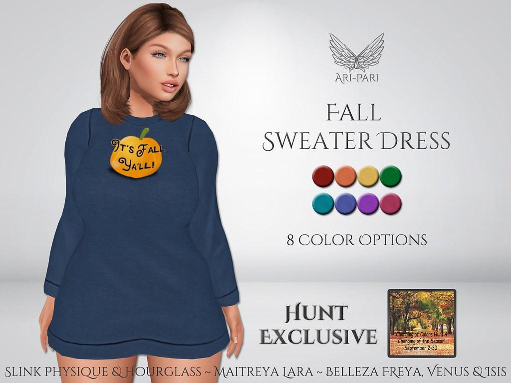 [Ari-Pari] Fall Sweater Dress