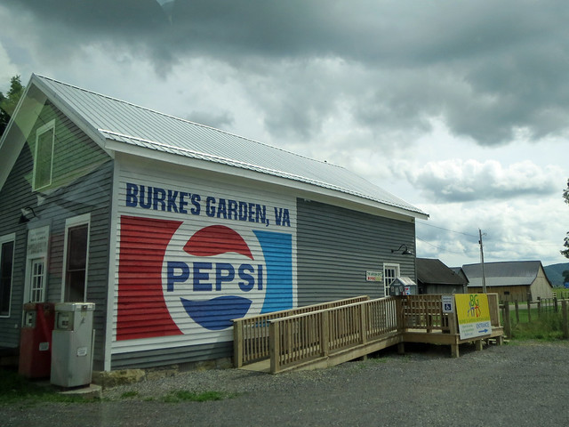 Pepsi Sign On The Post Office.