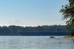 USS Carl Vinson (CVN 70) transits past Waterman Point after departing Bremerton, Aug. 23. (U.S. Navy/MC3 Victoria Foley)