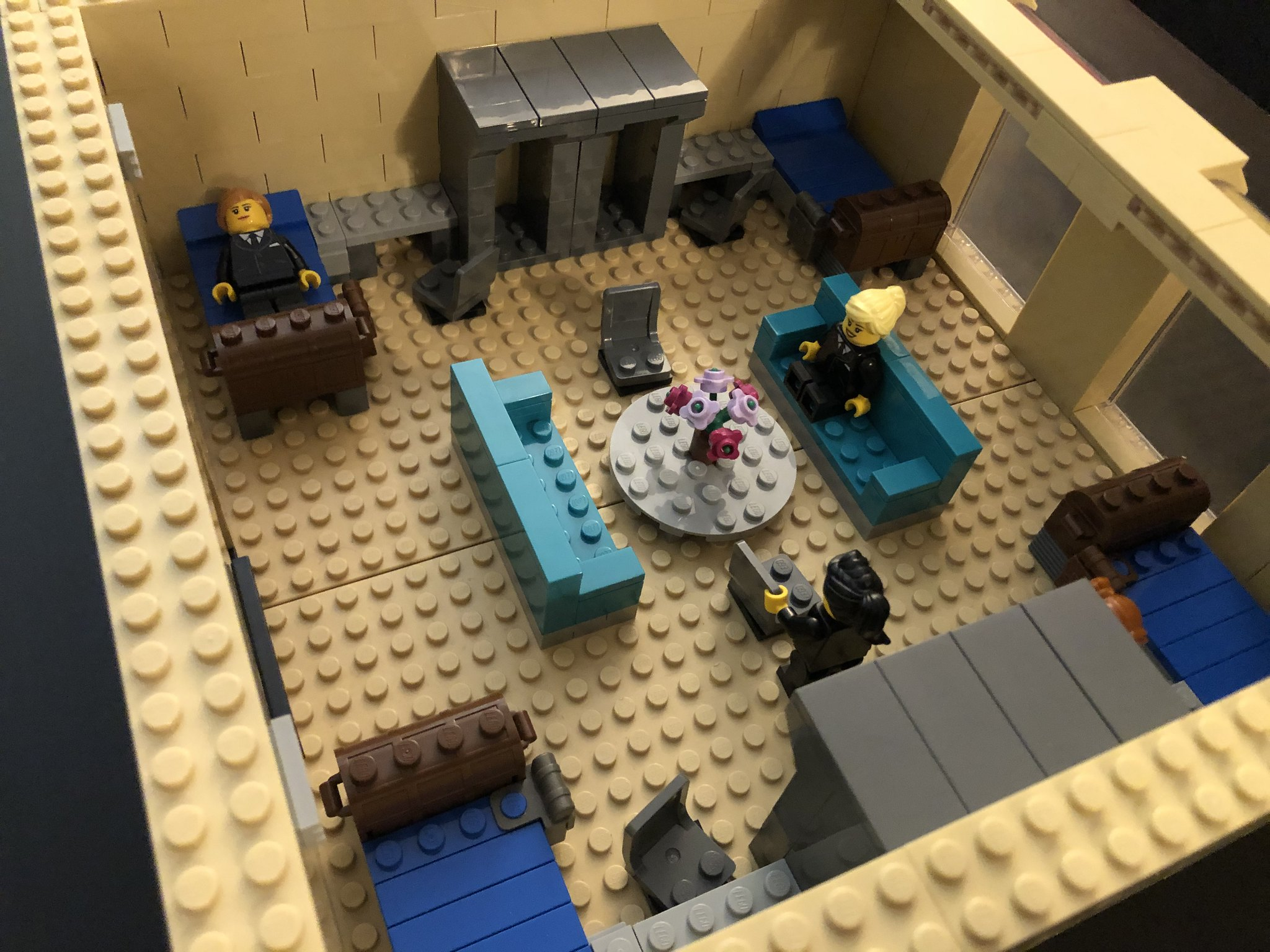 Dorm Room top facing napping minifigure