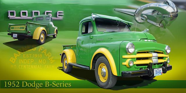 John Deere Green - 1952 Dodge B Series #2