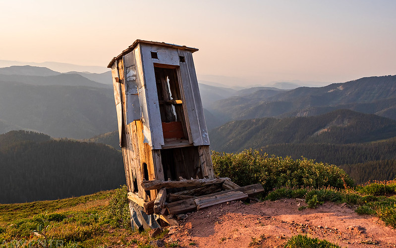 Outhouse On the Edge