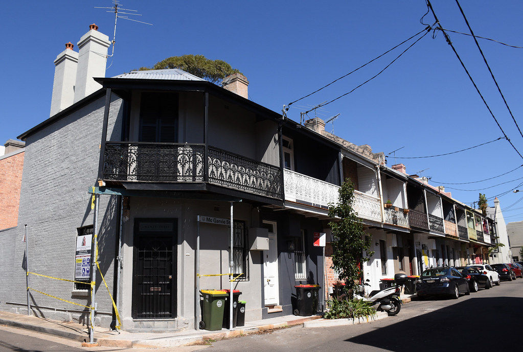 Terrace Houses, Mc Garvie St. Paddington, Sydney, NSW.