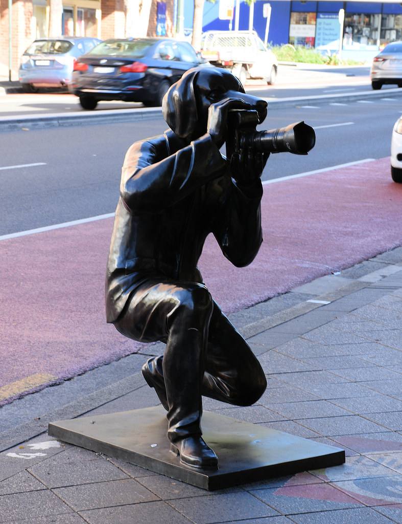 Photographer Sculpture, Oxford St, Paddington, Sydney, NSW.