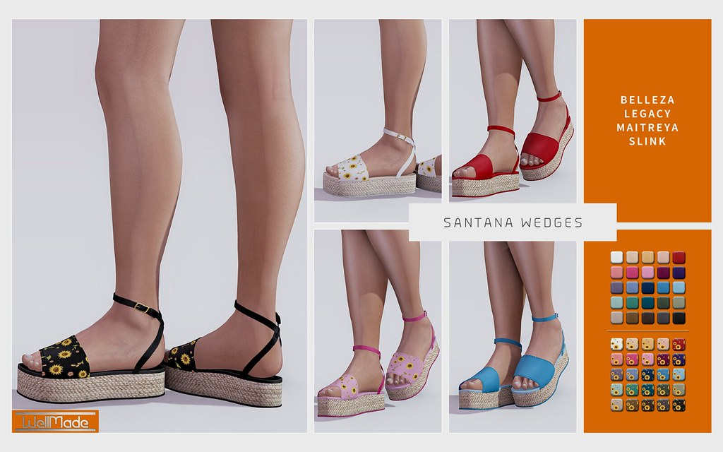 [WellMade] Santana Wedges – Exclusive for Girls Heaven -EVENT-