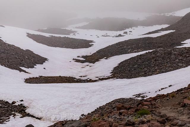 Snow Fields on Talus in the Goat Rocks Wilderness