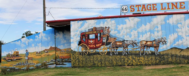 Mural along Route 66