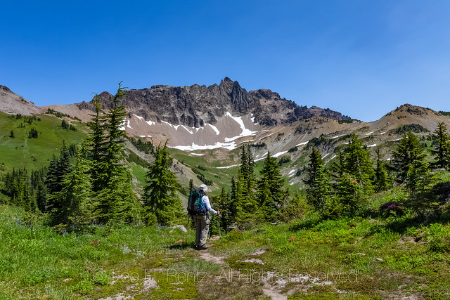 Joan Michaels Hiking in the Goat Rocks Wilderness