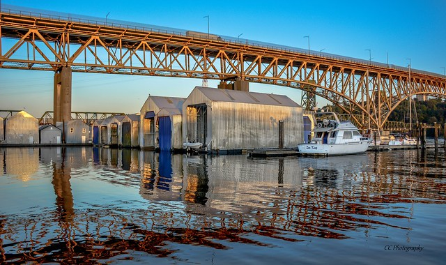 Reflections of  Ironworker's Memorial Bridge
