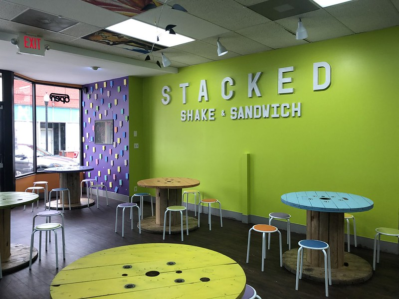 Stacked Shakes & Sandwiches